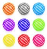 Grupo de bolas do brinquedo Fotos de Stock