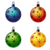 Grupo de bolas do Natal. Fotografia de Stock