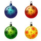 Grupo de bolas do Natal. Fotos de Stock