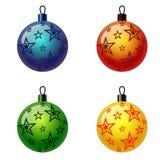 Grupo de bolas do Natal. Fotografia de Stock Royalty Free
