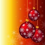 Grupo de bolas do Natal ilustração royalty free