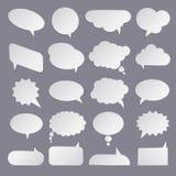 Grupo de bolhas brancas lisas para o discurso Imagem de Stock
