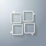 Grupo de bolhas do discurso Imagem de Stock