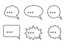 Grupo de bolhas do discurso Ilustração do Vetor