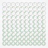 Grupo de bolhas infographic da porcentagem Foto de Stock