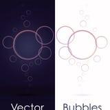 Grupo de bolhas transparentes em preto ou em branco Foto de Stock Royalty Free