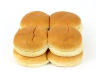 Grupo de bollos de hamburguesa Imagen de archivo libre de regalías