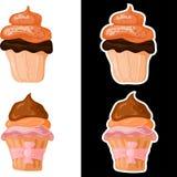 Grupo de bolos doces Imagem de Stock