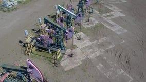 Grupo de bombas de aceite de funcionamiento almacen de metraje de vídeo