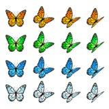 Grupo de borboletas ilustração royalty free
