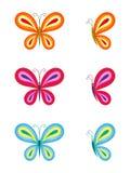 Grupo de borboletas coloridas Foto de Stock Royalty Free