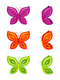 Grupo de borboletas coloridas Imagens de Stock Royalty Free