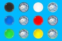 Grupo de botão do pino colorido Fotografia de Stock Royalty Free