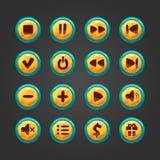 Grupo de botão para o jogo design-1 Foto de Stock