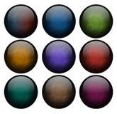 Grupo de botões abstratos Fotografia de Stock Royalty Free