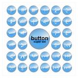 Grupo do botão do vetor dos elementos da Web Imagens de Stock