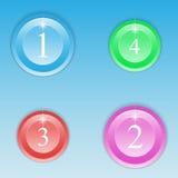 Grupo de botões coloridos redondos Imagens de Stock