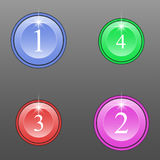Grupo de botões coloridos redondos Foto de Stock Royalty Free