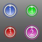 Grupo de botões coloridos redondos Imagens de Stock Royalty Free