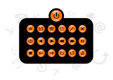 Grupo de botões da informação Vetor Imagem de Stock Royalty Free