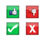 Grupo de botões de votação da Web Imagens de Stock Royalty Free