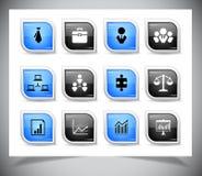 Grupo de botões do negócio Fotografia de Stock Royalty Free