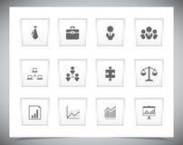 Grupo de botões do negócio Fotos de Stock Royalty Free