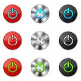 Grupo de botões do poder ilustração stock