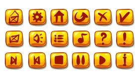 Grupo de botões do vetor dos desenhos animados Fotografia de Stock Royalty Free