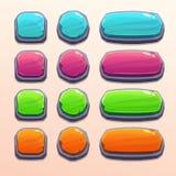 Grupo de botões engraçados brilhantes ilustração royalty free