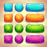 Grupo de botões frescos da geleia com bolhas ilustração stock