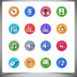 Grupo de botões lisos da cor. Imagem de Stock