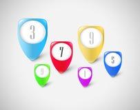Marcadores do botão ajustados Imagem de Stock Royalty Free
