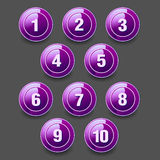 Grupo de botões redondos Ilustração Stock