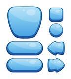 Grupo de botões lustrosos Fotografia de Stock