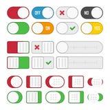 Grupo de botões universais Fotos de Stock