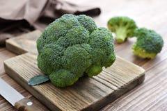 Grupo de brócolis verdes frescos Fotos de Stock Royalty Free