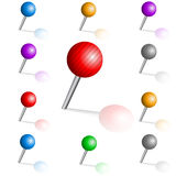 Grupo de braçadeiras multi-coloridas Fotografia de Stock