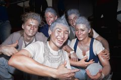 Grupo de breakdancers, Rusia Foto de archivo