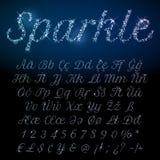 Grupo de brilho da fonte de sparkles de brilho Imagens de Stock Royalty Free