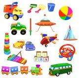 Grupo de brinquedos ilustração stock