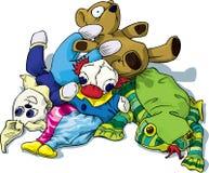 Grupo de brinquedos ilustração do vetor