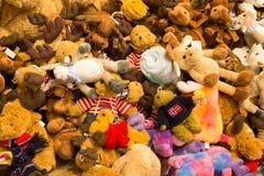 Grupo de brinquedos macios Imagem de Stock