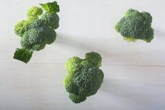 Grupo de brocolies imagem de stock