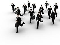 Grupo de bussinesmans running Imagens de Stock Royalty Free