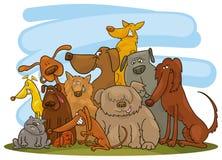 Grupo de cães ilustração royalty free