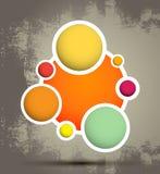 Grupo de círculo del vector Foto de archivo libre de regalías