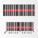 Grupo de códigos de barras isolados no fundo branco ilustração royalty free