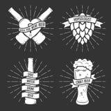 Grupo de cópias da cerveja do t-shirt Vetor do vintage Fotos de Stock Royalty Free