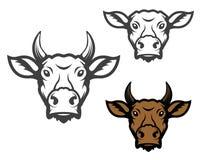 Grupo de cabeças da vaca Imagens de Stock Royalty Free